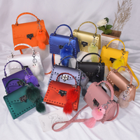 Wholesale ladies pvc rivet shoulder bags designers women jelly rivet bag purses handbags
